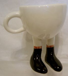 Lustre Pottery Walking Ware Roger Michell French Set Cup - SOLD